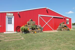 Arrows Family Farm's Big Red Barn.